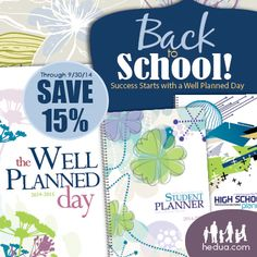 Looking for a way to stay organized for your homeschool year this year? The Well-Planned Day planners are on sale this month! The Student Planners are awesome! School Planner, Student Planner, Homeschool Curriculum, Homeschooling, Lord Is My Strength, Joy Of The Lord, Back To School Sales, Choose Joy, Day Planners