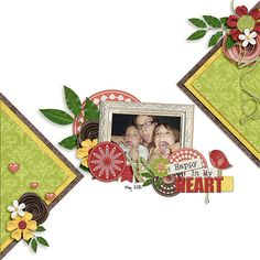 although this is a scrapbook layout, the layered triangles would look great on a card