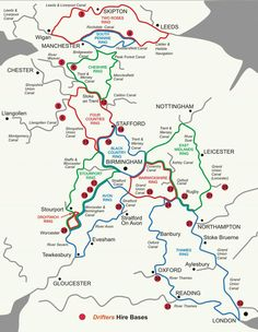 maps of the canal rings in the UK