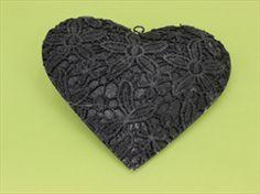 Srdce krajka kov černá - velkoobchod, dovoz květin, řezané květiny Brno