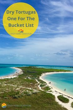 When you see these pictures, you won't believe this place actually exists! All it takes is a 70 mile boat ride from Key West to visit the Dry Tortugas. Add it to your bucket list now! via @Crazy Family Adventure