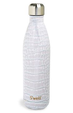S'well S'well 'Blanc Crocodile' Stainless Steel Water Bottle available at #Nordstrom