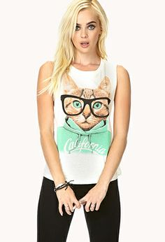 California Cat Muscle Tee | FOREVER21 - 2000072934