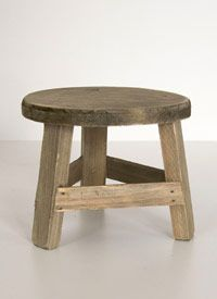 Mini Wood Stool by CS Post $16. Maybe to put a plant on