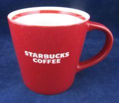 7f2339a3ad75 Starbucks Red White 16oz Bone China Coffee Mug 2010 Embossed