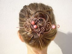 Wire work hair clips hair accessory wire by MargoHandmadeJewelry