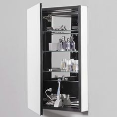 """Medicine Cabinets for Piper's + Boys' Bathrooms  PL Series Cabinet - Large 23.25"""" W x 3.75"""" D x 39.375"""" H Recessed in Wall"""