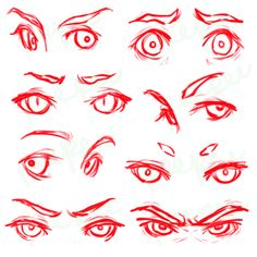 Eye Expressions Reference by ~peepeechu on deviantART