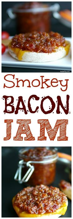 Look no further for the perfect spread for your toast, burger or anything else you can think up. This Smokey Bacon Jam is going to take your sandwiches to the next level of delicious! Jelly Recipes, Bacon Recipes, Jam Recipes, Canning Recipes, Appetizer Recipes, Appetizers, Sauce Recipes, Bacon Jam, Jam And Jelly