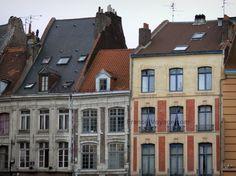 Lille: Façades de maisons du Vieux-Lille (vieille ville) - France-Voyage.com