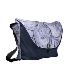 Marbled Blue Edges Large Fashion Bag by Janz Courier Bag