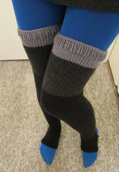 Ravelry: heathermary's thigh high legwarmers
