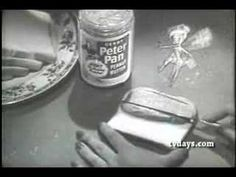 Peter Pan Peanut Butter comercial from 1956 featuring everyone's favorite fairy, Tinker Bell Peter Pan Peanut Butter, Peanut Butter Brands, Vintage Advertisements, Vintage Ads, Old Commercials, Peter Pan Disney, Tinker Bell, Classic Films, Pixie