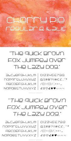 Cherry Pie handmade Font. Display Fonts. $20.00