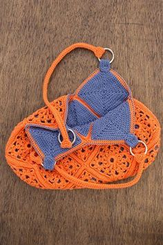 Delia Bag detail I want this bag in these colors !!! #crochetbags