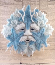 Needle Felted Old Man Winter Oneofakind Soft di McBrideHouse, $145.00