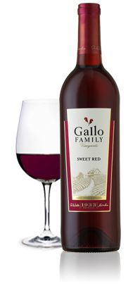 """Last year at the Taste of Home Cooking School I was turned onto the Gallo """"Moscato"""" and this year it was the Gallo """"Sweet Red"""". Now I have 2 wines that I REALLY like. And I am not much of a wine drinker..Pretty tasty ;)"""