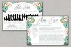 Hey, I found this really awesome Etsy listing at https://www.etsy.com/listing/230500427/mint-floral-wedding-ceremony-program