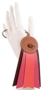 Hermès HERMES Hunter Cowhide Milo Lambskin Paddock Flot Bag Charm Rose Shocking Rouge H Rose Jaipur - Tradesy