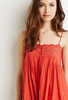 Embroidered Pintuck Cami Dress | LOVE21 | #f21contemporary
