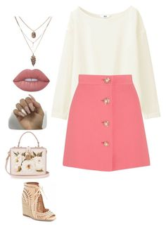 """""""Untitled #66"""" by snowflake39 ❤ liked on Polyvore featuring Uniqlo, Miu Miu, Lime Crime, Jeffrey Campbell and Dolce&Gabbana"""