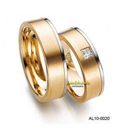 Alianças de casamento - diamante