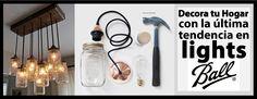 Crea una lampara colgante con los Mason Jar que tenemos para ti en EL NUEVO FENIX