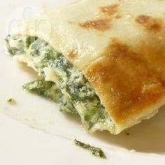 Rezeptbild: Gefüllte Pfannkuchen mit Spinat und Käse