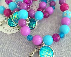 Dolphin bracelet under the sea party favor kids jewelry Mermaid Party Favors, Mermaid Theme Birthday, Little Mermaid Birthday, Mermaid Parties, Birthday Party Favors, Birthday Hats, Kids Bracelets, Beaded Bracelets, Mermaid Kids