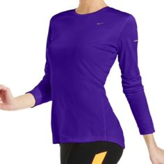 NEW!  Nike Miler long-sleeve Dri-fit hi-lo top Nike's Miller long sleeved tee is the perfect workout top!  The Dri-Fit material technology helps keep you cool while you push it to the limit!  This top is brand new & available today at an incredible price! Nike Tops