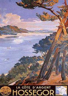Hossegor by E. Paul Champseix (1930)
