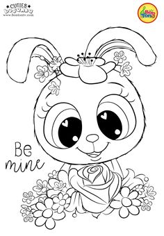 Cuties Coloring Pages for Kids - Free Preschool Printables - Slatkice Bojanke - Cute Animal Coloring Books by BonTon TV . Mothers Day Coloring Pages, New Year Coloring Pages, Cute Coloring Pages, Christmas Coloring Pages, Animal Coloring Pages, Adult Coloring Pages, Coloring Pages For Kids, Coloring Books, Preschool Printables