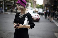 Cosas que aprendimos en Nueva York (I): que un collar de ensueño transforma por completo un LBD. Foto: © Josefina Andrés