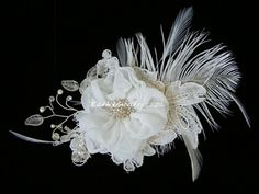 Annemieke Fascinator by KathleenBarryJewelry on Etsy, #wedding #hair #fascinator