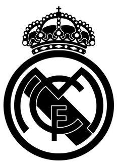 Billedresultat for real madrid logo Logo Del Real Madrid, Real Madrid Club, Real Madrid Football Club, Azadi Tattoo, Logo Football, Real Madrid Manchester United, Madrid Tattoo, Black And White Art Drawing, Real Madrid Logo