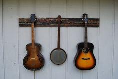 Rough Sawn Instrument Hanger by bluemountainwoodwork on Etsy