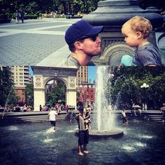 omg. it's arrow, his baby and washington square park. omg.