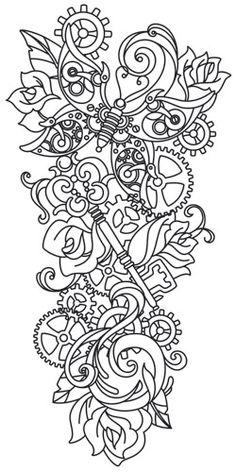 Steampunk Sleeve design (UTH7511) from UrbanThreads.com