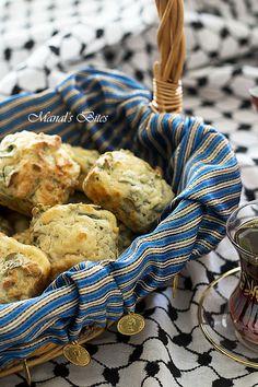 Manal's Bites: Green Za'tar and Nabulsi Cheese muffins or squares (update)