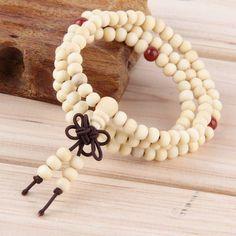 Natural Sandalwood 108 beads Mala