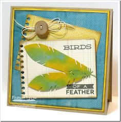 Document It - Right on Target; Accent It - Feathers and Arrows Die-namics; Insert It - 3x4 Notepad Die-namics; Blueprints 3 Die-namics - Frances Byrne