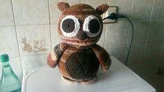 Buho a crochet.