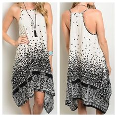 3b92f19f218 New - Summer Ivory Black Dress Great for summer! You can dress it up