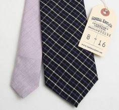 Deep Purple Check Necktie....for my Hubby!
