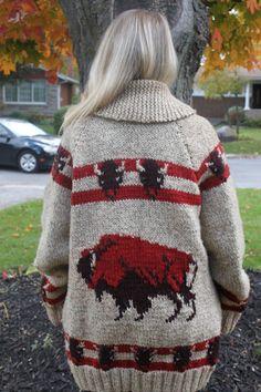 Mary Maxim Men's No. 434 Buffalo sweater jacket