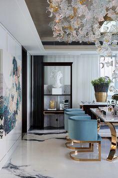 Amazing 49 Luxury Dining Room Design with Interior Like in the Kingdom kindofdec. Modern Interior Design, Interior Design Inspiration, Room Inspiration, Eclectic Design, Modern Interiors, Contemporary Interior, Contemporary Architecture, Scandinavian Interior, Colorful Interiors