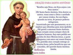 """Acesse a oração, com link para """"Santo Antônio - Oração e História"""" (outra oração)"""