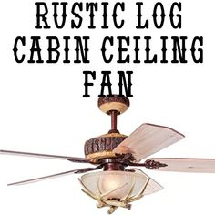 Tropicalfan Rustic Ceiling Fan With 1 Light Cover Indoor Home Decoration Living Room Antlers Silent Industrial Fans Chandelier 5 Wood Blades 48 Inch Log Cabin Kitchens, Industrial Fan, How To Build A Log Cabin, Off Grid Cabin, Light Covers, Rustic Kitchen, Antlers, Ceiling Fan, Living Room Decor