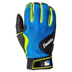 Franklin Sports Freeflex Series Batting Gloves Black/Electric Blue Adult Medium