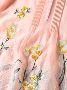 Pink Frill Sleeve Floral Midi Dress